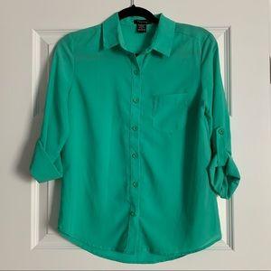Aqua convertible portofino button up blouse